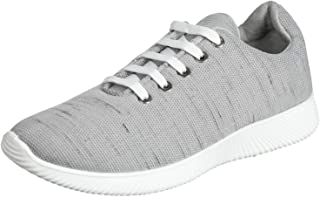 Salerno Two-Tone Textile Lace-Up Sneakers for Men - Grey, 45