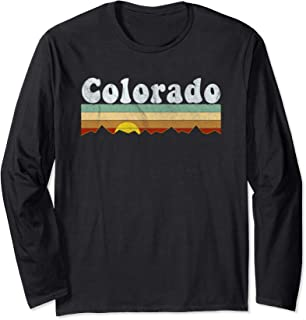 Vintage Retro 70s Colorado Long Sleeve T Shirt