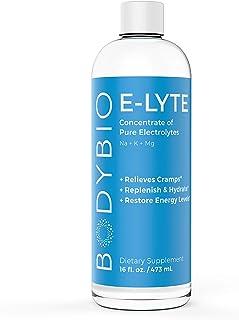 BodyBio - E-Lyte, Liquid Electrolyte - Sodium, Magnesium & Potassium for Rapid Natural Hydration - No Sugar or Additives -...