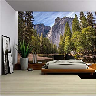 wall26 - Mountain View - Removable Wall Mural | Self-Adhesive Large Wallpaper - 66x96 inches