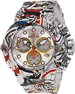 Men's Subaqua Quartz Watch with Stainless Steel Strap, Multi-Color, 28 (Model: 32103)