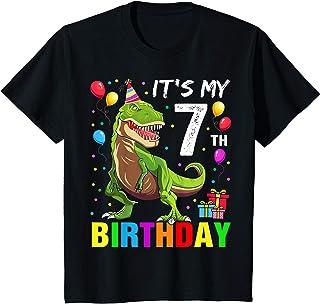 Enfant It's My 7th Birthday Happy 7 Year T-Rex Shirt Boys T-Shirt