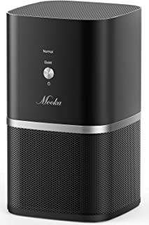 MOOKA True HEPA Air Purifiers, Desktop Air Purifier w/ 3-Stage Filtration, Air Purifiers for Allergies and Pets, Mold, Tabletop Smoke Odor Eliminator for Home, Small Room, Dorm, Bedroom, Office, Baby