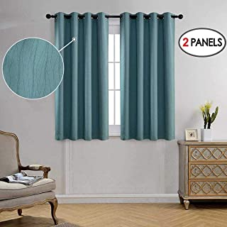 MIUCO Blackout Curtains Room Darkening Curtains Textured Grommet Curtains for Window..
