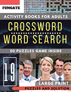 Large print Crossword and Word Search: FunGate Activity books for adults Large Print | Crossword Wordsearch Game to Challenge Your Brain (Puzzle books for adults Large Print)