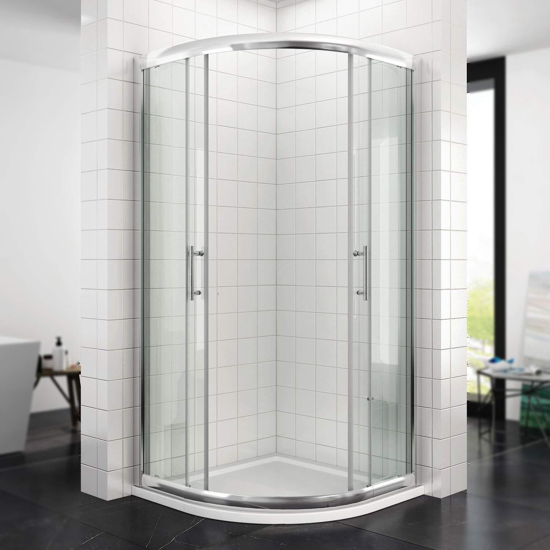 Cabina de ducha circular de 80/90 cm. Mampara con ducha con puerta corredera. Altura 185/195 cm: Amazon.es: Bricolaje y herramientas