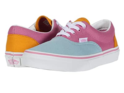 Vans Kids Era (Big Kid) ((Color Block) Fuchsia Pink/True White) Girls Shoes