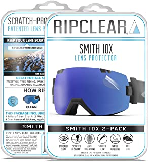 RIPCLEAR Lens Protector for Smith I/OX Goggles - Protect Your Lens from Scratches While You Ride,  Crystal Clear USA Military Grade Protection,  2 Pack