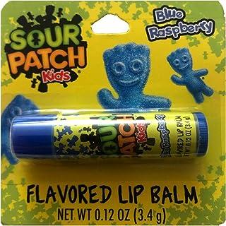 Taste Beauty (1) Stick Sour Patch Kids Blue Raspberry Candy Flavored Lip Balm Gluten Free - Blue Tube Carded - Net Wt. 0.1...