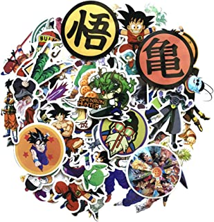Dragon Ball Z Super Stickers Figure Goku Black Decal for Laptop Phone Kids Party (100Pcs-A)