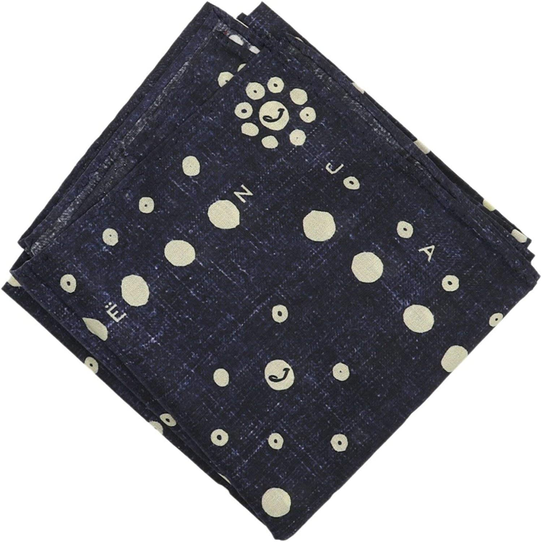 Jacob Cohen Denim Print Dotted Logo Cotton Bandana Handkerchief