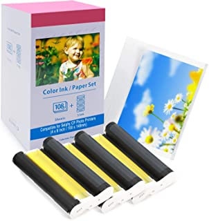 Papier Photo Compatible Canon Selphy CP1300 CP1200 CP1000 CP910 CP810 C800 CP740 Cartouches Imprimante Photo et Papier Pho...
