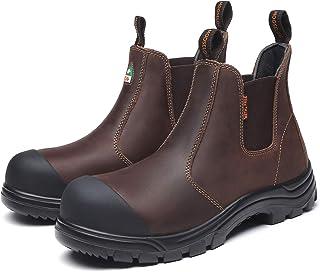 حذاء رجالي من MooseLog مصنوع من الجلد المركب الخالي من المعدن 5977