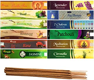 AROMATIKA Vedic Natural Masala 12 Assorted Aroma Incense Sticks of 180 gm