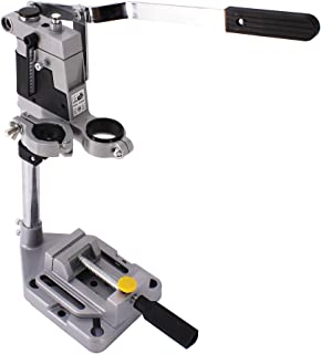 HFS (R) Drill Press Rotary Tool Workstation Stand with Wrench- 220-01- Mini Portable Drill Press- Tool Holder- 2 inch Dril...