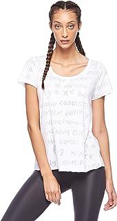 BodyTalk Women's Loose Fit T-Shirt, White, X-Large