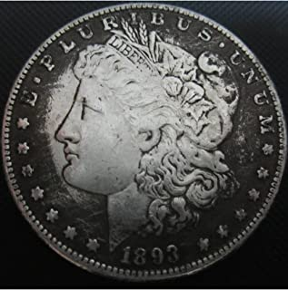 SeTing Antique Great American (1804-1922) Old Morgan Liberty One-Dollar Coins - US Commemorative Coin-Teaching Tool for Kids-Handmade Coin LifeShop 1893