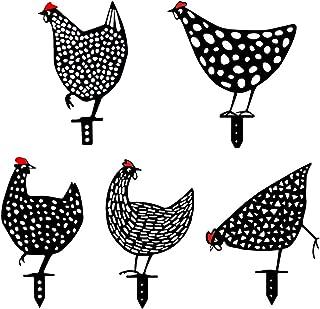 Chicken Yard Garden Decoration, 5 Pieces Chicken Rooster Hen Decor, Acrylic Chicken Statue Decor, Outdoor Chicken Animal S...