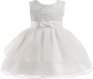 0-24 Months Baby Flower Girl Dress Kids Ruffles Lace Party Wedding Dresses