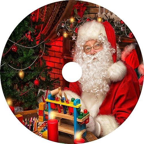 """popular SkyMall 31.5"""" Christmas online LED new arrival Lighted Musical Santa Tree Skirt online"""
