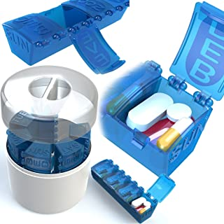 4Thought Large Pill Organizer, 7 Day Med Manager, High Quality, Durable Pill Organizer, Countertop Pill Planner