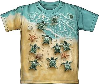 Turtles on The Beach Tie-Dye Youth Tee Shirt