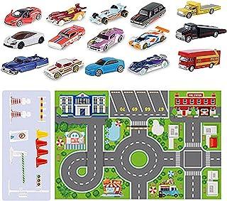 JINGLING Adventskalender 2021 voor kinderen, Minis adventskalender, auto adventskalender voor jongens, 24 stuks, verrassin...