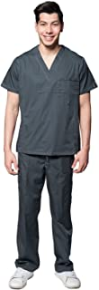 Mens Multi Pocket Utility Scrubs 2 Piece Set