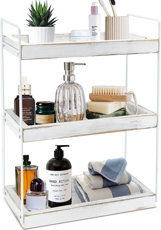 3 Tier Bathroom Countertop Organizer Cosmeti Rack Mail order cheap 1 year warranty Standing Shelf