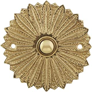 House of Antique Hardware R-010MG-311-PB Hollywood Regency Solid-Brass Doorbell Button in Polished Brass