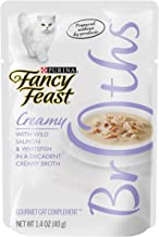 Purina Fancy Feast Broths with Wild Salmon & Whitefish Decadent Creamy Broth, 40 gm