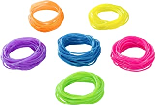 Tytroy Neon Rainbow Assorted Color Jelly Bracelets Birthday Party Favors Gifts - 144 Piece - (144)
