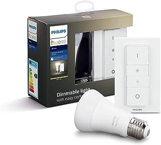 Philips Hue Bombilla Inteligente LED E27 con Mando Inalámbrico, con Bluetooth, Luz Blanca Cálida, Compatible con Alexa y G...