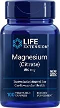 Life Extension Magnesium (Citrate) 160 mg, 100 Vegetarian Capsules