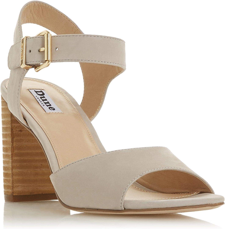 Dune Damen ISOBELA Sandalen mit hohem Blockabsatz Grau Gre EUR 41