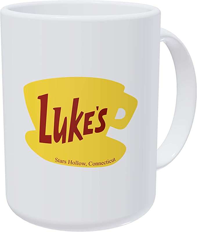 Willcallyou Luke S Diner Gilmore Girls 15 Ounces Double Side Printed Funny White Coffee Mug