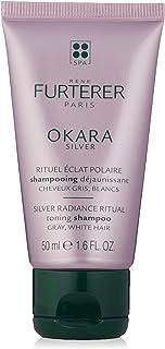 Rene Furterer OKARA SILVER Toning Shampoo, Purple Shampoo for Blonde, White, Grey, Silver, Pastel Hair