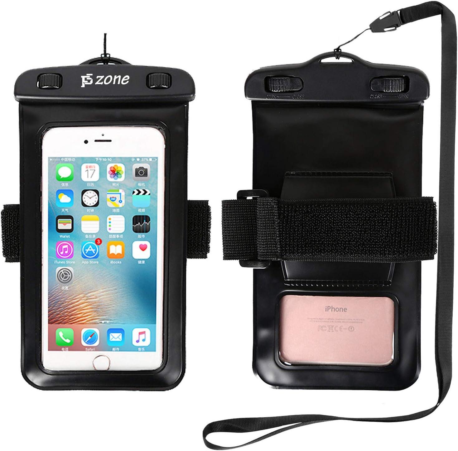 Kimberiey Universal Lightweight Luminous Waterproof PVC Mobile Phone Bag With Dual Swivel Lock Sealable Closure Clip Strap