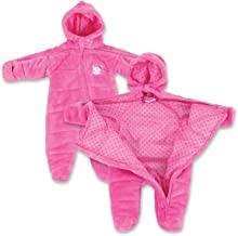 Infant Girl EZ Off Full Zip Hooded Warm Jacket - Great for Sleeping Children - Perfect Baby Gift