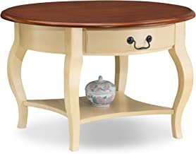 Leick French Countryside Round Storage Coffee Table - Ivory