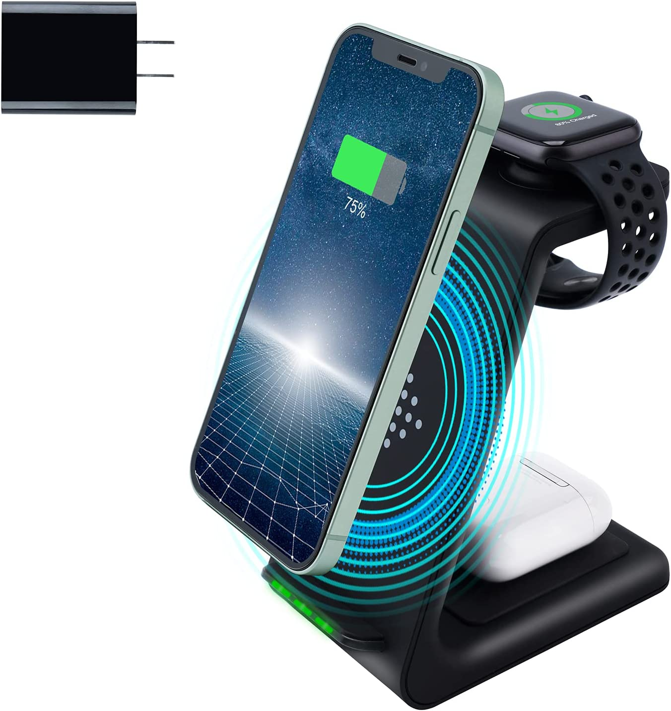 Amugpill Wireless Charger 3 in 1 free shipping C New color Fast Charging Dock Station Qi