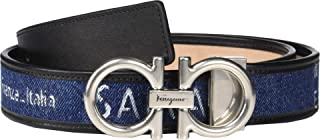 Salvatore Ferragamo Men's Adjustable Belt - 67A029 Navy 36