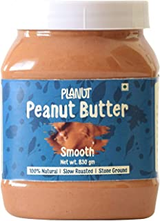 Planut Chemical Free Peanut Butter, Smooth, Sweetened, 830g | All-natural, High Protein