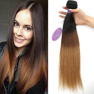 Cranberry Hair Ombre Brazilian Virgin Hair Straight Hair Weave 12 inch Bundle Three Tone Color Human Hair Weaving Blonde Hair T1B/4/30