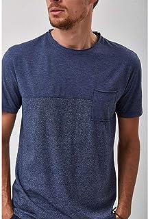 Camiseta Recorte - Marinho