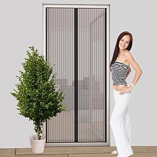 Easy Life Rideau moustiquaire magnétique pour Porte 100 x 210 cm en Anthracite - Individuellement raccourcissable et Insta...