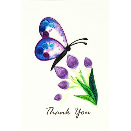 Flowers Butterflies Pretty Personalized Birthday Party Thank You Cards