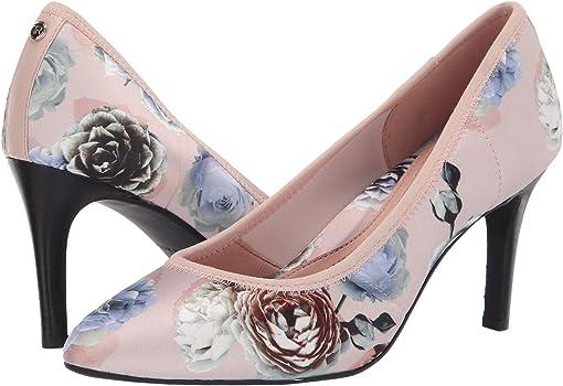 Pink Rose Printed Satin