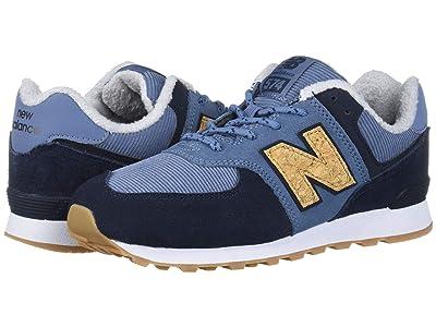 New Balance Kids C574v1-USA (Big Kid) (Chambray/Eclipse) Boys Shoes