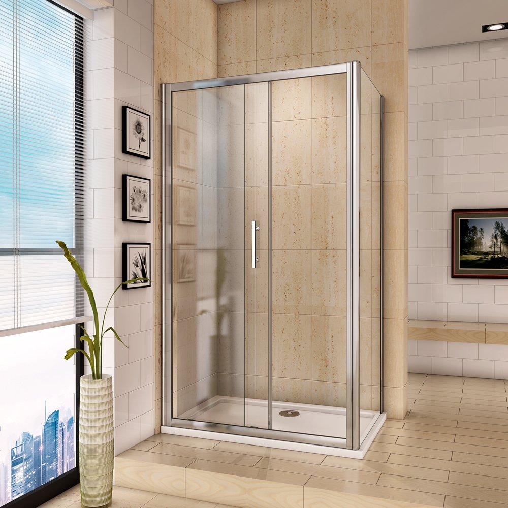 1200 x 700 mm de cristal corredera para mampara de ducha con Panel ...